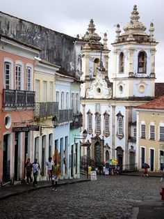 Pelourinho historic district in Salvador, Brazil (by twiga_swala) via Tea In The Afternoon on tumblr.com