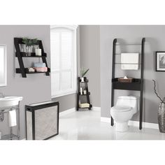 Cappuccino 34-inch Corner Etagere - Overstock™ Shopping - Great Deals on Bathroom Shelving