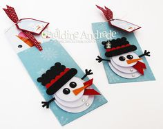 Stampin' Up! Christmas  by Geraldine Andrade at Mafer's Creations: SNOWMAN GIFT CARD HOLDER