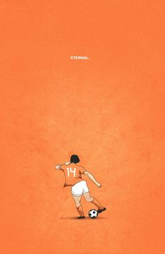 "thepicsquotes: "" RIP Johan Cruyff : What a player this man was! Sad day for the football world! Kids today still trying to perfect that special turn of his. Cruyff, who made his name as a forward. Street Football, Football Icon, Soccer Art, Soccer Poster, Good Soccer Players, Football Players, Football Tactics, Arte Do Harry Potter, Legends Football"