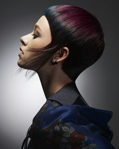 My Work for B.H.A. 2014 Short Hair Lengths, Short Hair Cuts, Short Hair Styles, Creative Hairstyles, Funky Hairstyles, Beauty Book, Hair Beauty, Creative Hair Color, Avant Garde Hair