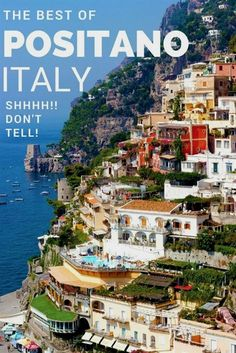 Positano, Italy on the Amalfi Coast - If Paradise had to pick a destination I can almost guarantee you that it would be here! Located a couple of hours south of Rome and perched along the cliffs of Southern Italy, it's the perfect place for an Italian seaside vacation. The best of Italy travel. What hotel to stay at, what restaurants to eat at, and what to do. | europe travel  #ItalyTravel