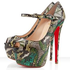 Christian Louboutin Lady Highness 160mm Mary Jane Pumps Green $146