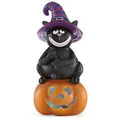 LENOX goats  - Happy Halloween Lighted Cat Figurine