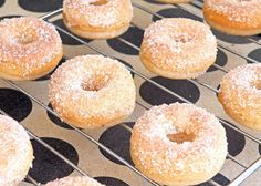Baked Mini Apple Cider Donuts.. Need to try this recipe as it seems there are no apple festivals in NC like there was in Long Grove...