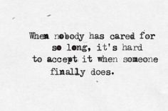 when somebody does...