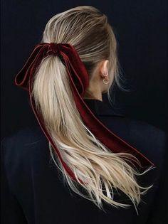 Haarschmuck und Haarteile - The Biggest Hair Trends 2018 - 10 Trendy Hair . Pretty Hairstyles, Easy Hairstyles, Hairstyles 2016, Hair Bow Hairstyles, Everyday Hairstyles, Hairstyle Short, Fashion Hairstyles, Big Hair, Hair Trends
