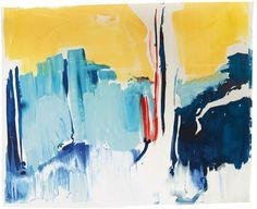 Ana Sério Reflexo (turvo) da Luz #8, 2015, 114x140cm #Artist #AnaSério #Colorful #Paintings #Oil on #Paper at #SaoMamede #Art #Gallery in #Algarve #Portugal