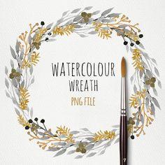 watercolorsforlandlubbers: Watercolour Wreath nr 5