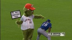 Houston Astros mascot Orbit had fun messing with Adrian Beltre all weekend. Baseball Mascots, Funny Baseball, Mlb Texas Rangers, Rangers Baseball, Atlanta Braves, Cubs, Ny Yankees, Houston Astros, Dodgers