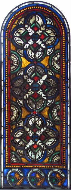 Ornamental Window c. 1180, made in Reims, France. from the Benedictine monestery church of St. Remi. the Cloisters Collection