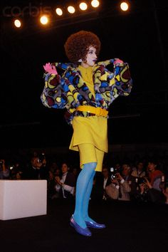 Thierry Mugler show, 1985-86, model unknown