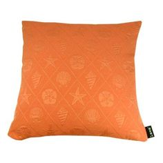 lava Shell Throw Pillow Color: Coral