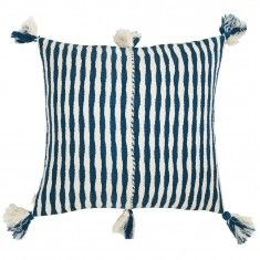 Archive New York Antigua Pillow - Dark Teal Blue