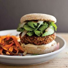 Mushroom and Brown Rice Veggie Burger recipe | Epicurious.com