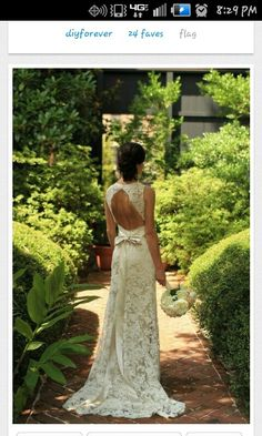 Beautiful lace wedding dress. bc long hair dont care that I am not even engaged.
