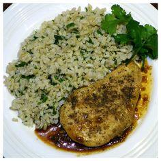 Orange Chipotle Chicken with Cilantro Rice Recipe - Clean Eating