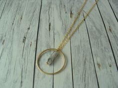 Ketten lang - Edle Kette Howlith Ring weiß gold vergoldet - ein Designerstück von buntezeiten bei DaWanda
