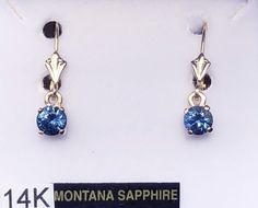 # 5 - Montana Sapphire Dangle Leverback earrings 14K White or Yellow Gold #ring #yogosapphires #montanasapphirering #engagement#yogo #yogosapphire #montana #montanasapphire #macsgems #sapphire #gemstone #montanayogosapphire #gems #americangemstones #naturalsapphire #gemmountain #sapphireblue #handmadejewelry #sapphirejewelry #naturalgemstone #bluesapphire #followersofinstagram #bigskycountry #ethicallymined #instagramjewelry #fourosix #MadeInMontana #montanajewelry #tealsapphire #montanamade Sapphire Jewelry, Sapphire Gemstone, Blue Sapphire, 14k White Gold Earrings, Gold Ring, Natural Sapphire, Gem S, Natural Gemstones, Belly Button Rings