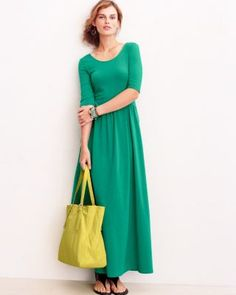 love this!! Double-Scoop Maxi Dress