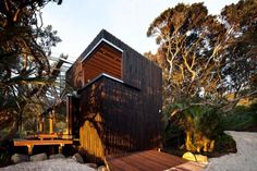 Nice and homey wooden house.
