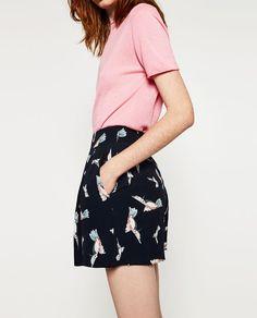 Bilde 3 fra LØS BERMUDASHORTS MED FUGLEMOTIV fra Zara Zara United States, Bird Prints, My Style, Skirts, Fashion Trends, Ss16, Summer 2016, Flip Flops, Women