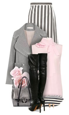 """""""For the love of beret"""" by monazor ❤ liked on Polyvore featuring Balenciaga, See by Chloé, Rochas, Ermanno Scervino, Gucci, Givenchy and Lucifer Vir Honestus"""