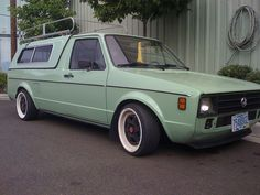 Green vw caddy 1