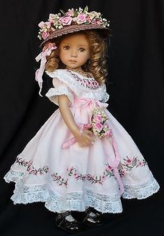 "Embroidered Heirloom Ensemble for Effner 13"" Little Darling Dolls"