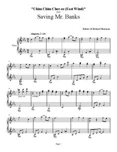 Saving Mr. Banks - Chim Chim Cher-ee (East Wind) - Robert & Richard Sherman   Silver Screen Selections