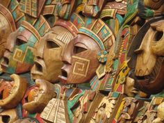 #Ritual #masks #ChichenItza #Mexico