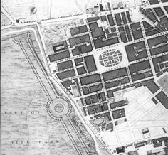 Grosvenor Square and surrounds. Detail from John Rocque's 1746 map of London. The Earl of Salt Hendon's mansion is in Grosvenor Square and Sir Antony Templestowe's townhouse is just south of the square in South Audley Street. SALT REDUX