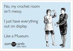 I wish I had a crochet room - I wish I could crochet like Georgia