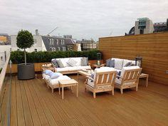 London garden roof-top terace : Modern garden by Decorum . London