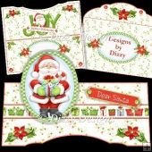 Dear Santa Card Tri Fold Cards, Slider Cards, Pocket Cards, Folded Cards, Stepper Cards, Bead Embroidery Patterns, Shaped Cards, Tent Cards, Book Folding