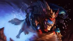Download Wallpaper 1600x900 Slark, Dota 2, Art 1600x900 HD Background