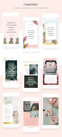 {InstaDaily} Instagram Stories Pack by NovakLab on @creativemarket
