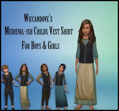 Vest Top for Kids by Wiccandove at SimsWorkshop • Sims 4 Updates