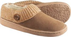Cabela's Women's Suede Clog Slippers #ColdWeatherGear