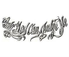 Religious Tattoo Design Stencil Model
