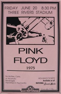 Pink Floyd Roger Waters David Gilmour Wish You Were Here L. Retro Art Print — Poster Size — Print of Retro Concert Poster — Features Nick Mason, Roger Waters, Richard Wright, Syd Barrett and David Gilmour. Pink Floyd Wall, Pink Floyd Poster, Pink Floyd Live, Roger Waters David Gilmour, U2 Poster, Pink Floyd Roger Waters, Three Rivers Stadium, Musica Punk, Tour Posters