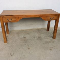 Teak writing table
