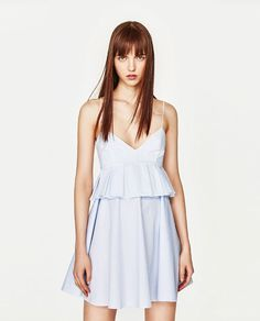 Image 2 of COMBINED STRAPPY DRESS from Zara
