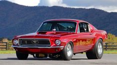 1968 Ford Mustang Cobra Jet Lightweights, of which only 51 were ever produced for drag racing. Ford Mustang Shelby Cobra, Mustang Fastback, 1968 Mustang, Mustang Girl, Mustang Boss, Bob Glidden, Automobile, Classic Mustang, Drag Cars