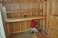 DIY shed shelves! We need one I think I can do that ;)