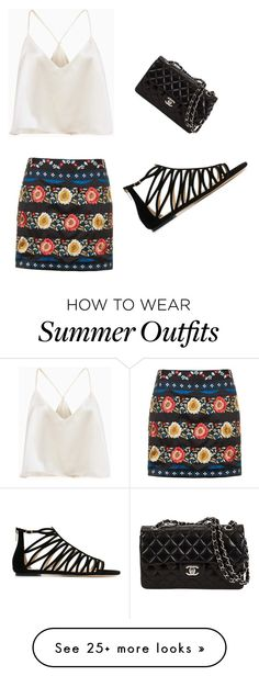 """Summer outfit"" by annielizz on Polyvore featuring Topshop and Jimmy Choo"