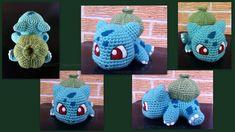 Baby Bulbasaur (with pattern) by aphid777 on DeviantArt Pokemon Crochet Pattern, Pikachu Crochet, Crochet Patterns Amigurumi, Crochet Blanket Patterns, Crochet Toys, Crochet Gratis, Bunny And Bear, Bulbasaur, Baby Deer