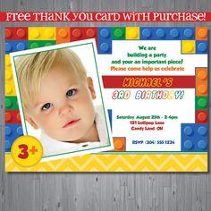 25% off - LEGO, FREE thank you card - DIGITAL file -. $14.71, via Etsy.