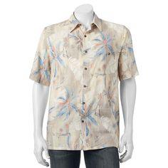 Men's Batik Bay Tropical Casual Button-Down Shirt, Size: