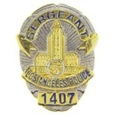 "Los Angeles Police Officer Sergeant Badge Pin 1"" by FindingKing. $9.50. This is a new Los Angeles Police Officer Sergeant Badge Pin 1"""